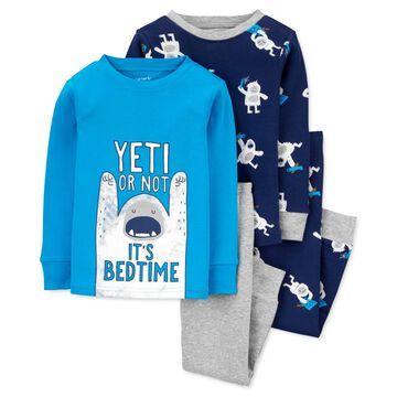 Carter's Baby Boys 4-Pc. Yeti Cotton Pajamas