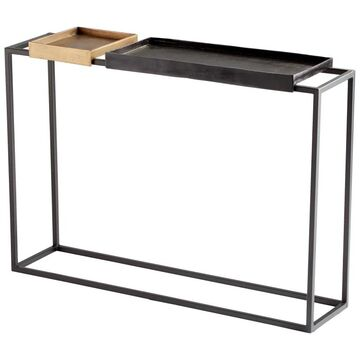"""Cyan Design 10741 Lanvin 13"""" Wide Aluminum Top Iron and Wood Console Table Bronze and Brass Indoor Furniture Tables Console/Sofa"""