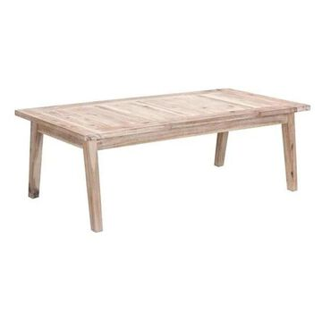 Zuo Modern South Port Coffee Table, White Wash