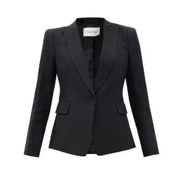 Valentino - Single-breasted Silk-twill Jacket - Womens - Black