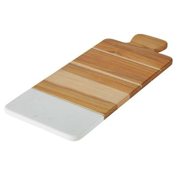 Anolon Pantryware White Marble & Teakwood Cutting Board