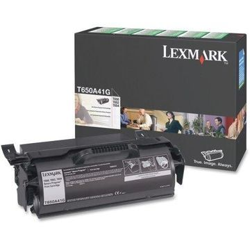 Lexmark T650A41G Lexmark Return Program Black Toner Cartridge - Laser - 7000 Page - Black
