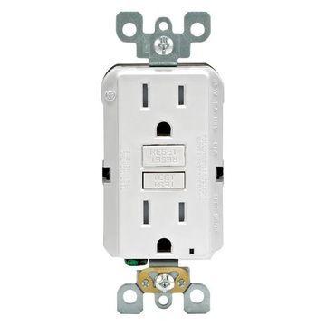 Leviton 15 Amp White SmartlockPro Self-Test GFCI 3 Count