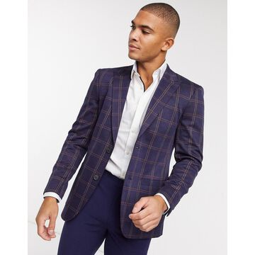 Only & Sons suit jacket in navy check