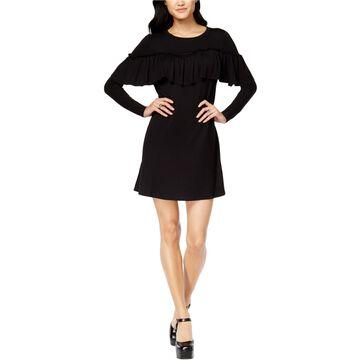 Kensie Womens Ruffled Sweater Dress