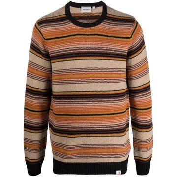 Tuscon striped crew-neck jumper