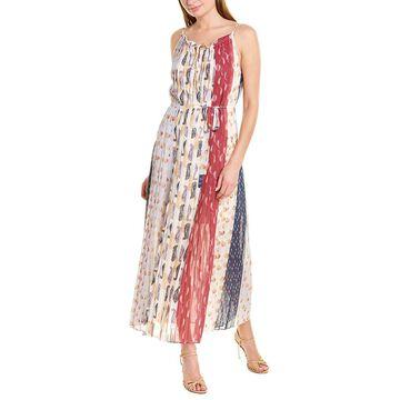 Ml Monique Lhuillier Pleated Maxi Dress