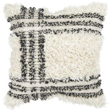 Rizzy Home Decorative Downfilled Throw Pillow Stripe 20