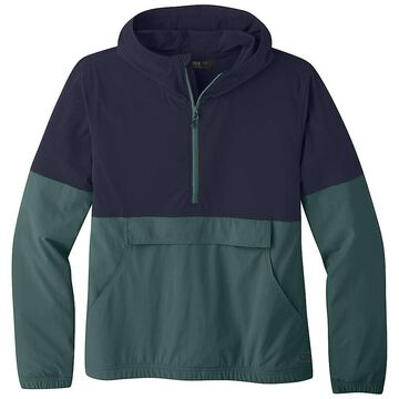 Outdoor Research Women's Ferrosi Anorak - Large - Naval Blue / Blue Spruce