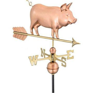 Good Directions Country Pig Weathervane   Pure Copper - 29