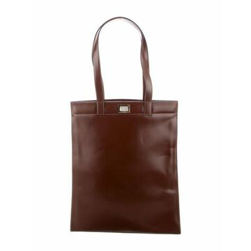 Smooth Leather Tote Brown