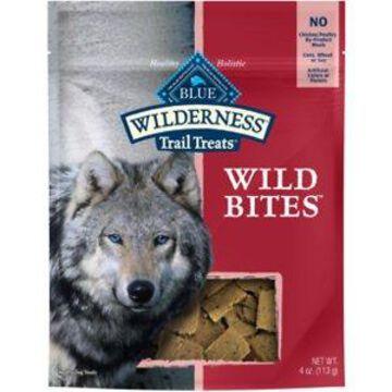 Blue Buffalo Wilderness Trail Treats Salmon Wild Bites Grain-Free Dog Treats, 4-oz bag