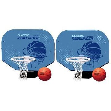 Poolmaster Classic Pro Rebounder Poolside Basketball Game With Ball (2 Pack)