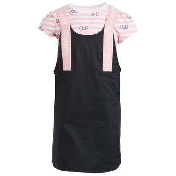 Toddler Girls Striped Bow Dress