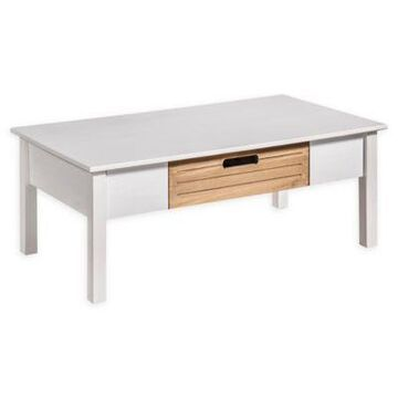 Manhattan Comfort Irving Coffee Table in White/Natural