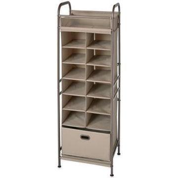 Neatfreak Vertical 12-Cubby Shoe Storage Organizer with Bin Drawer