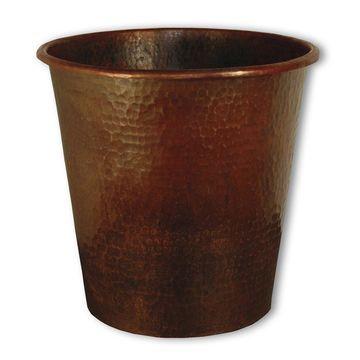 Hand Hammered Copper Waste Basket