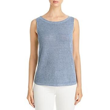 Eileen Fisher Organic Linen Boat Neck Top