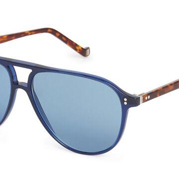 Hackett HSB887 683 Men's Sunglasses Blue Size 56