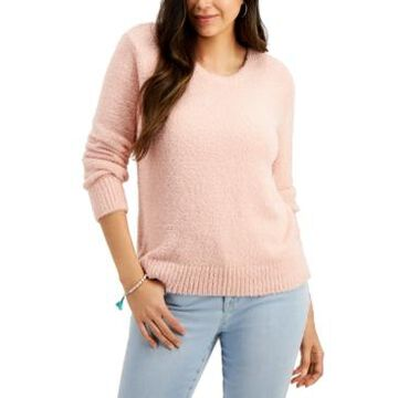 Style & Co Petite Plush Crewneck Sweater, Created for Macy's