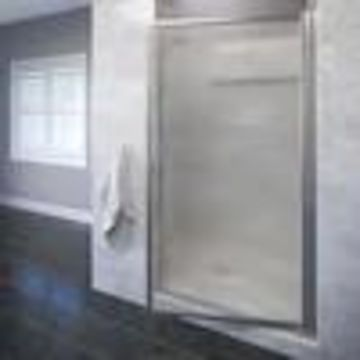 Basco Sopora 22.75-in to 24.5-in W Framed Pivot Brushed Nickel Shower Door