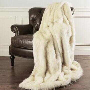Aurora Home Faux Fur Throw Blanket by Wild Mannered