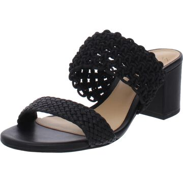 Alexandre Birman Womens Lanny 60 Heel Sandals Leather Slip On - Black