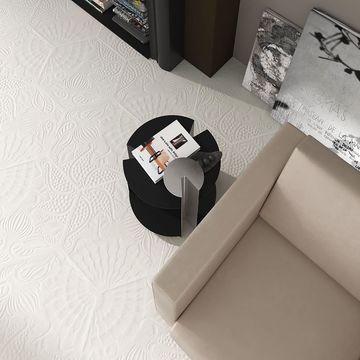 SomerTile 8.625x9.875-inch Cornet Hex White Porcelain Floor and Wall Tile (25 tiles/11.56 sqft.)