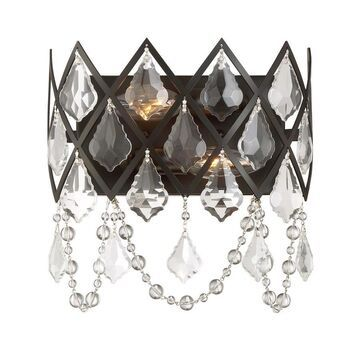 Designers Fountain Ravina 10.25-in W 1-Light Vintage Bronze Modern/Contemporary Wall Sconce