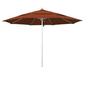 California Umbrella 11-ft Terracotta No-tilt Market Patio Umbrella Stainless Steel   ALTO118002-F69-DWV