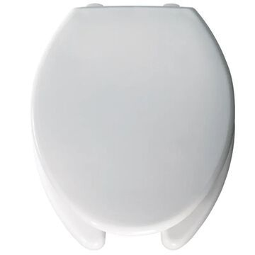 Bemis 3L2150T Medic-Aid Elongated Plastic Open Front Toilet Seat with STA-TITE DuraGuard and 3-inch Lifts White Accessory Toilet Seat Elongated