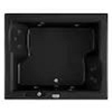 Jacuzzi Fuzion 71.75-in Black Acrylic Rectangular Front Center Drain Drop-In Whirlpool Bathtub