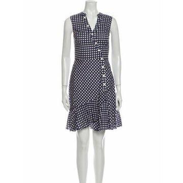 Plaid Print Knee-Length Dress w/ Tags Blue
