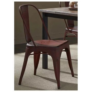 Liberty Furniture Vintage Series Bow Back Side Chair, Red