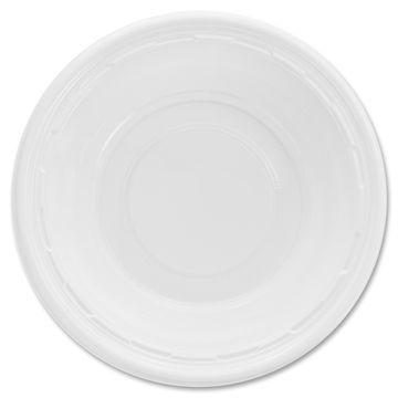 Dart Famous Service Plastic Dinnerware, Bowl, 12oz, White, 125/Pack, 8 Packs/Carton