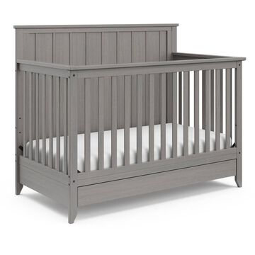 Storkcraft Forrest 4-in-1 Crib with Drawer - Rustic Gray