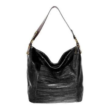 Nino Bossi Women's Jaiden Leather Shoulder Bag Black - US Women's One Size (Size None)