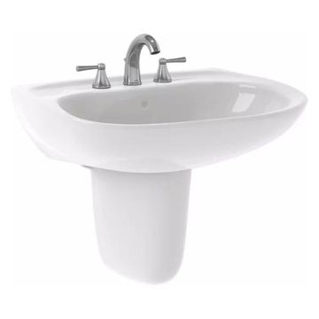 Toto LHT242G Cotton White Prominence Wall Mount Lavatory Single Hole,