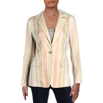 Lafayette 148 New York Womens Linen Casual Jacket