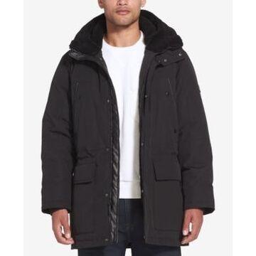 Sean John Men's Long Hooded Bomber Jacket