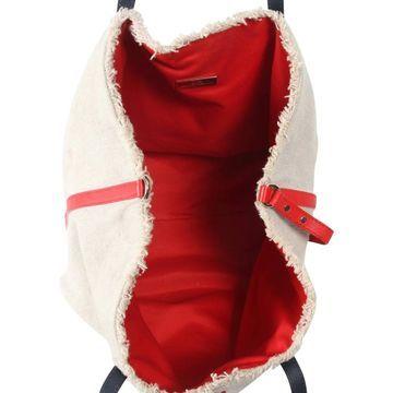 Carolina Herrera Beige Linen Handbags