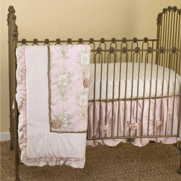 Cotton Tale Lollipops and Roses 7-piece Crib Bedding Set
