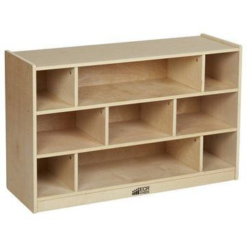 Birch 36in Medium Block Storage Cart Natural
