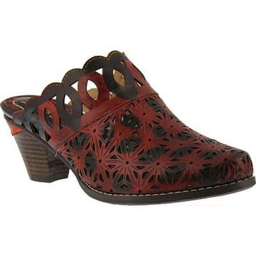 L'Artiste by Spring Step Women's Rima Mule Red Leather