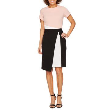 Ronni Nicole Short Sleeve Sheath Dress