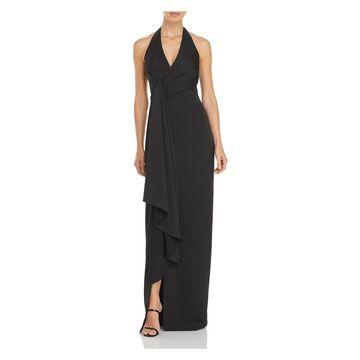 AIDAN MATTOX Black Sleeveless Full-Length Dress 10