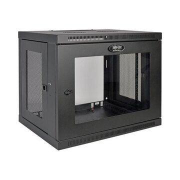 Tripp Lite 9U Wall Mount Rack Enclosure Server Cabinet w/ Acrylic Glass Front Door - Rack - cabinet - wall mountable - black - 9U - 19