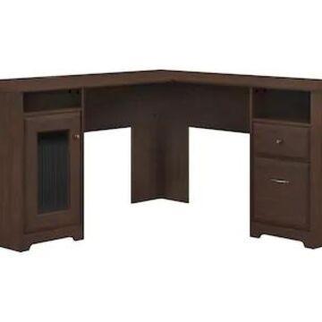Bush Furniture Cabot 60 L-Shaped Desk, Modern Walnut (WC31030-03K) | Quill