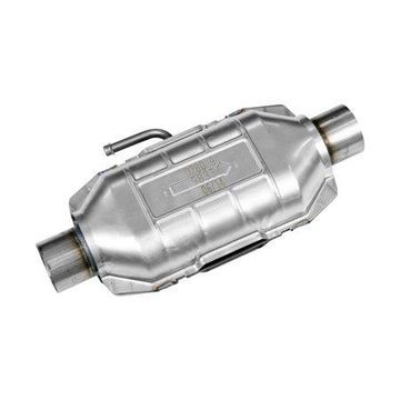 Flowmaster Universal Pre-OBDII Catalytic Converter SS - 2.5in. In/Out 16in. Length w/Air Tube