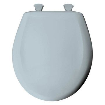 Bemis 200SLOWT 174 Plastic Round Slow-Close Toilet Seat, Blue Mist